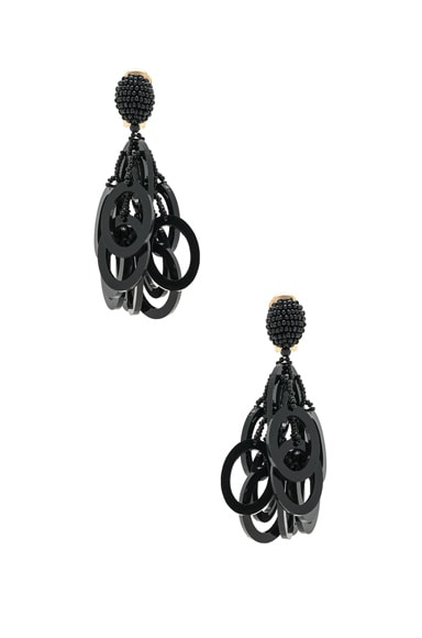 PVC Circle Link Earrings