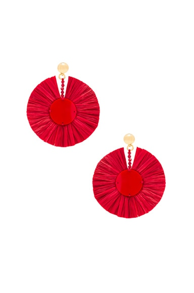 Small Raffia Disk Earrings