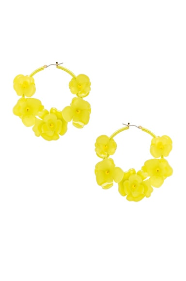 Flower Garden Hoop Earrings