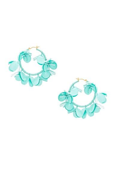 Multi Flower Hoop Earrings