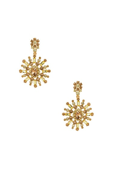 Flower Pave Earrings