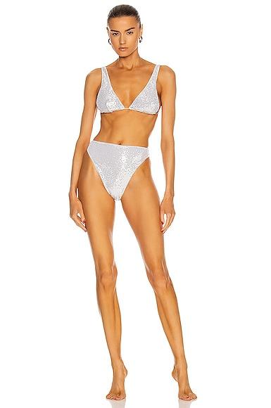 Oseree Bikinis DISCO 90S TWO PIECE BIKINI