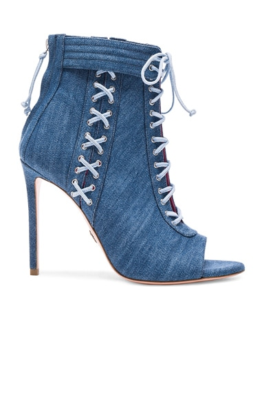 Denim Sami T Booties en Blue Denim