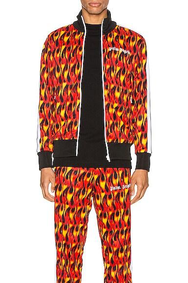 Palm Angels Jackets Burning Track Jacket
