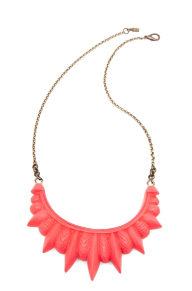 Resin Tribal Spike Necklace