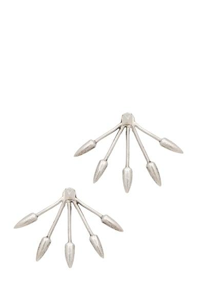 Five Spike Stud Earrings