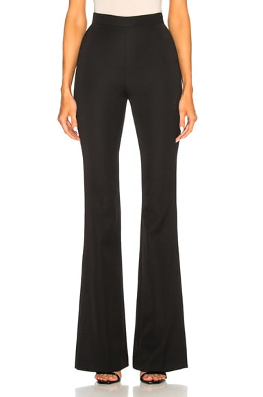High Waisted Flare Trouser Pants