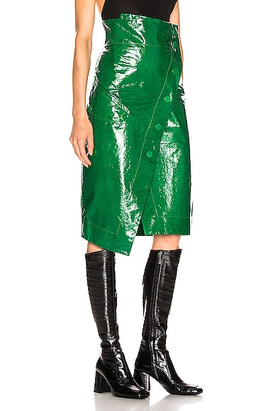 Renae Patent Leather Wrap Skirt