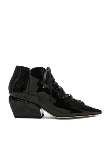 Patent Leather Sacha Ankle Boots