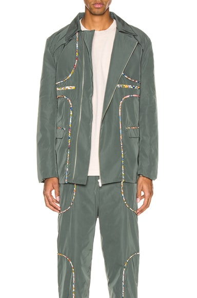 Piping Panel Suit Jacket