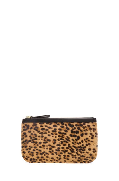 Medium Leopard Calf Hair Pouch