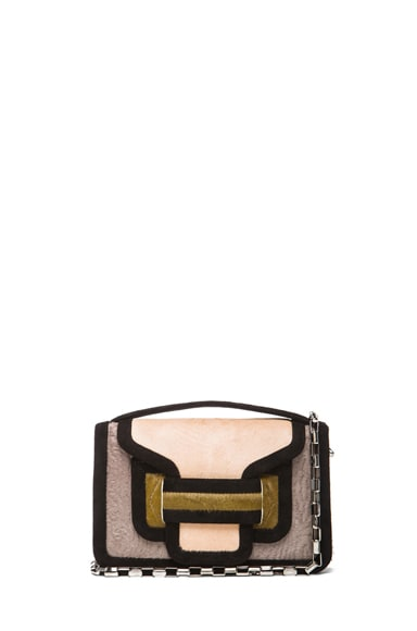Color-block Calf Hair and Leather Bag