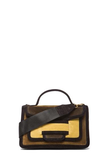 Color-block Suede Bag