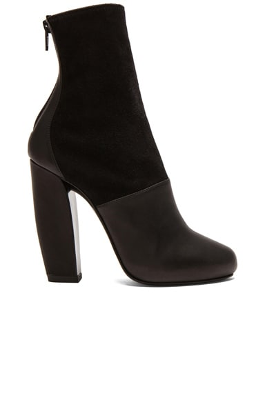 Stretch Calfskin Leather & Suede Boots