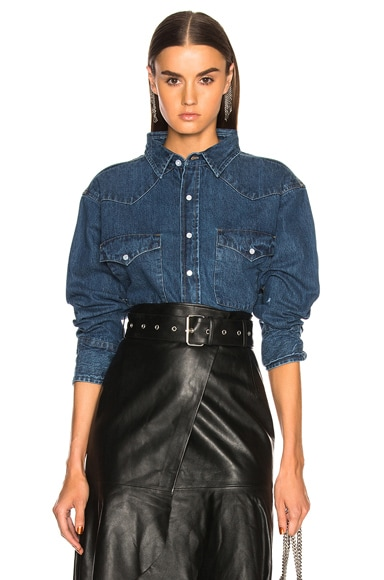 Vintage Cropped Denim Shirt