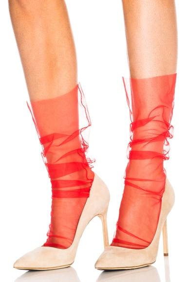 Italian Nylon Tulle Socks