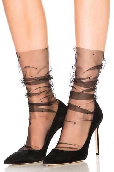 Swarovski Superfine Italian Nylon Tulle Socks