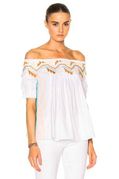 Paneled Cotton Top