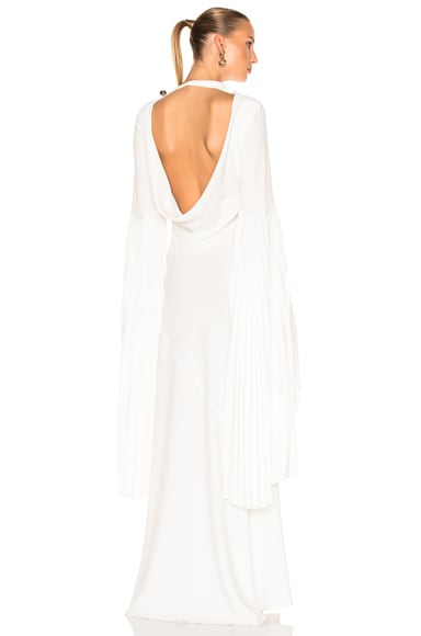Satin Back Cady Bare Back Gown