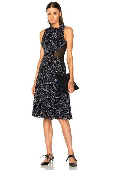 Printed Crepe Chiffon Sleeveless Midi Dress