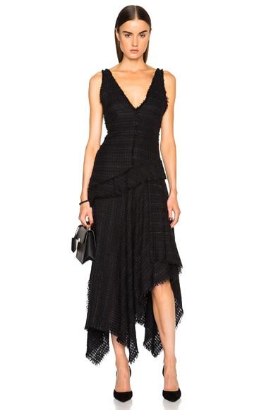 Open Weave Tweed Dress