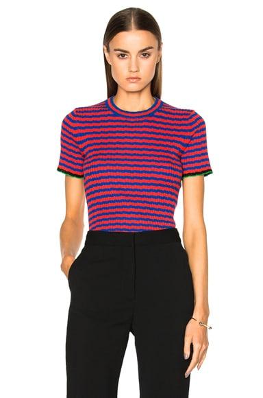 Silk Cashmere Irregular Stripe Cropped