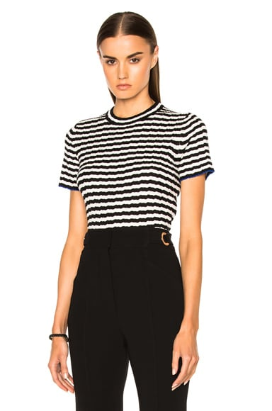 Silk Cashmere Irregular Stripe Cropped