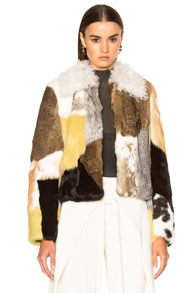 Rabbit Patchwork Fur Jacket