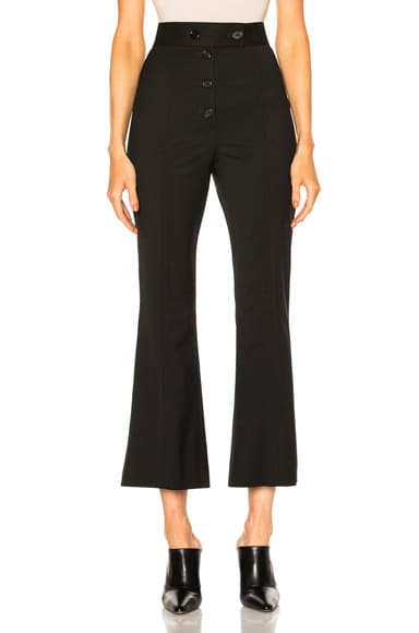 Lightweight Wool Suiting Flared Pant