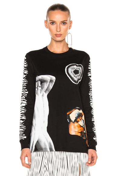 Printed Jersey Long Sleeve Tee