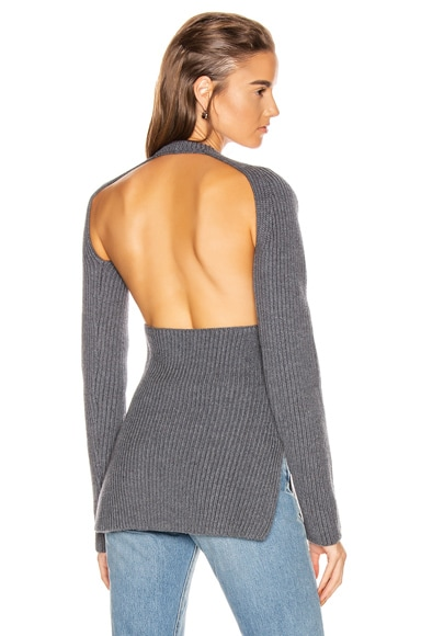 Ribbed Backless Top