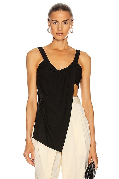 Sleeveless Draped Tank Top