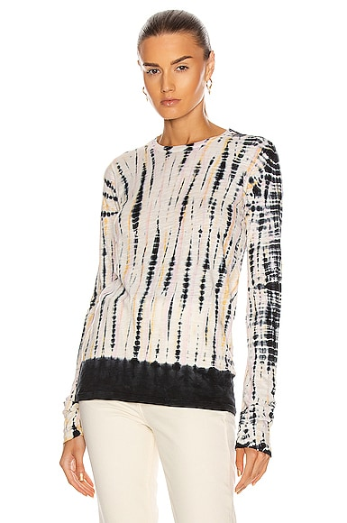 Proenza Schouler Long Sleeve Tie Dye Top