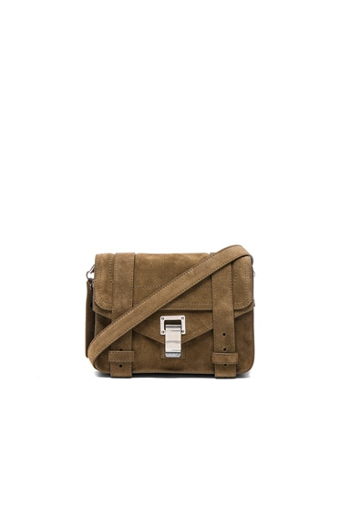 Mini Crossbody PS1 Suede in Bay Leaf