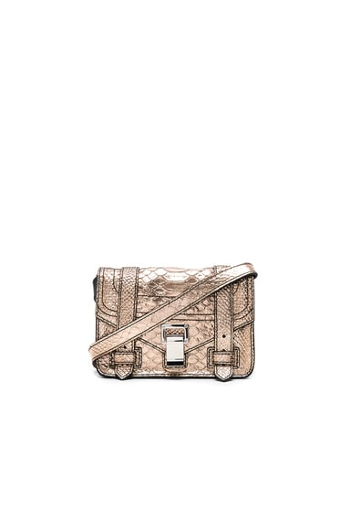 Mini Crossbody PS1+ Metallic Embossed Python
