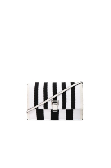 Small Knit Stripe Lunch Bag with Strap