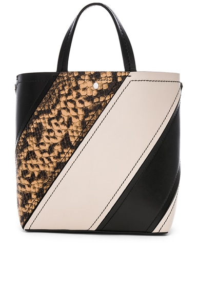 Small Embossed Python Hex Tote