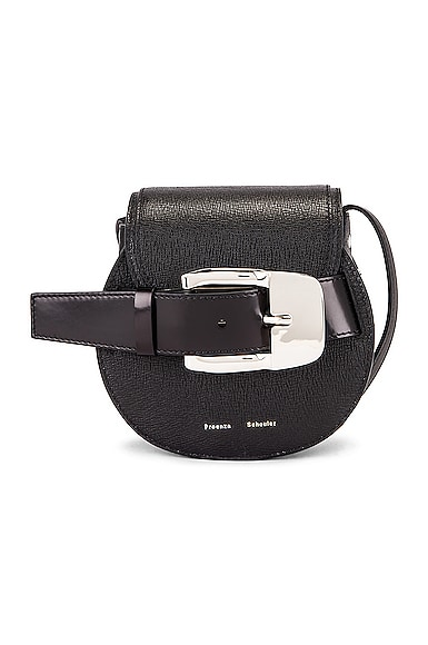 Mini Leather Buckle Crossbody Bag