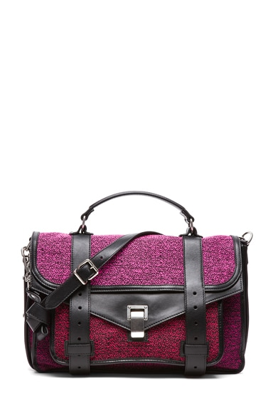 Medium PS1 Tweed and Leather Satchel