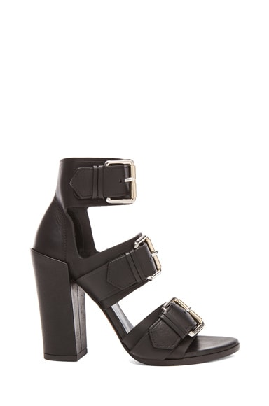 Buckle Leather Heels
