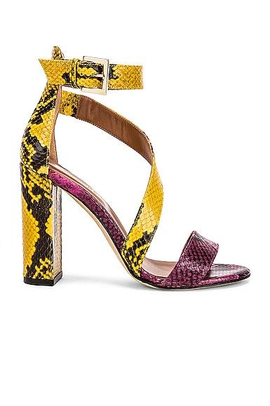 Diagonal Strap Snake 100 Sandal Heel