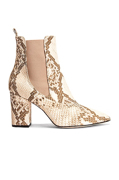 Faded Python Print Ankle Boot