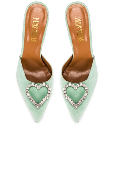 Crystal and Suede Stiletto Mule