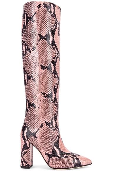 Snake Print Knee High Boot