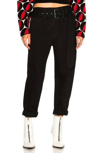 Belted Skater Jeans