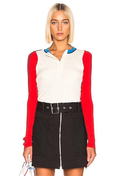 Colorblock Long Sleeve Top