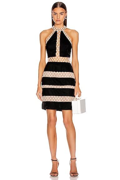 Pearl and Velvet Mini Dress