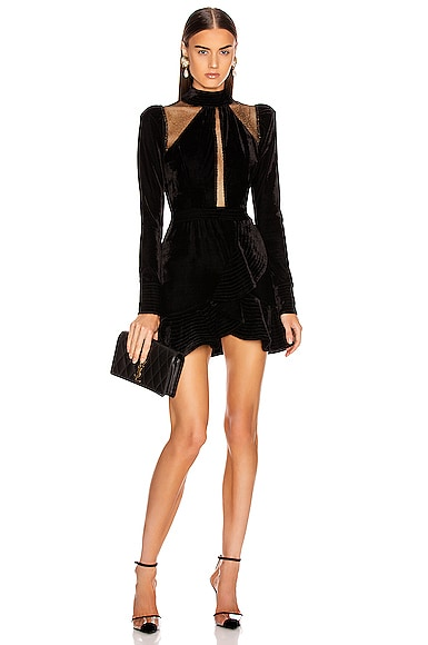 Velvet and Lurex Mini Dress