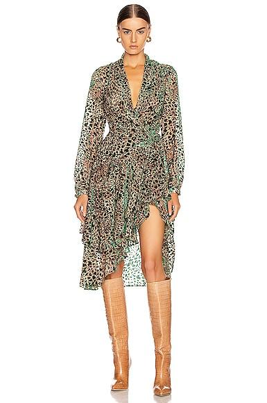 Burnout Velvet Mini Wrap Dress