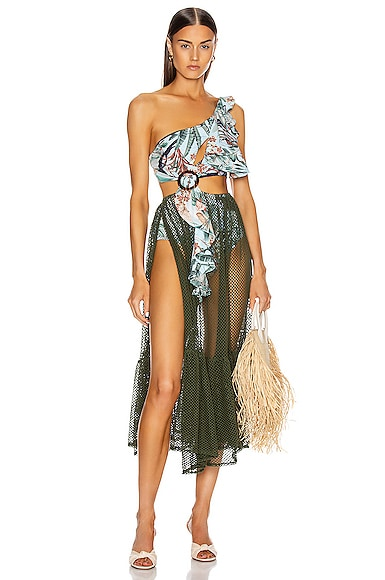 Eden Print Mesh Beach Dress